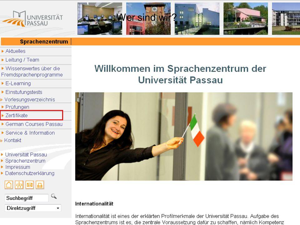 axel.polleti@uni-passau.de Zertifizierung  Trägerzertifikate (intern Uni Passau):  FFP = Fachspezifische Fremdsprachenprüfung  BOHEMICUM  trägerunabhängig (externe Akkreditierung): UNIcert ® (Stufen I – IV)  UNIcert ist eine international geschützte Marke.