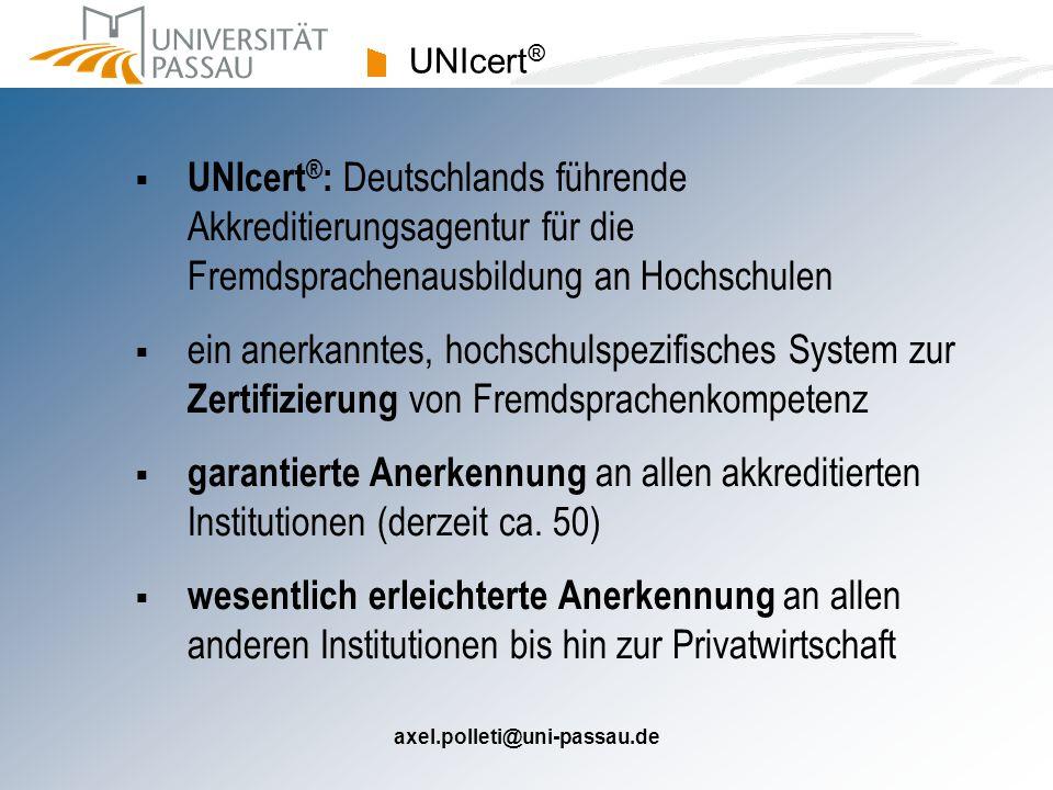 axel.polleti@uni-passau.de Niveauprüfungen: Beispiele Kurs / NiveaustufePrüfungen FFA AS 1 (WS) FFA AS 2 (SS) schriftl.