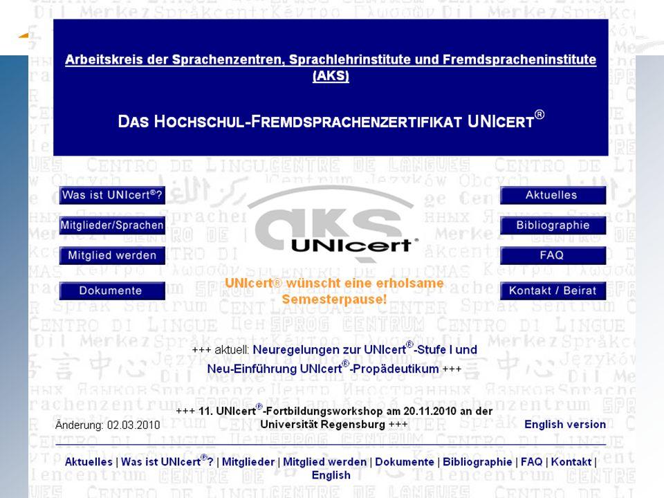 axel.polleti@uni-passau.de Chinesisch Deutsch (FS) (nur U IV) Englisch Französisch Italienisch Polnisch Portugiesisch Russisch Spanisch Tschechisch (Stand: 2009) Zertifizierte Sprachen