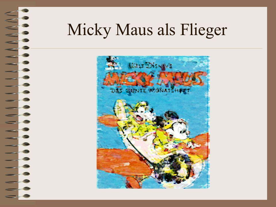 Micky Maus als Flieger