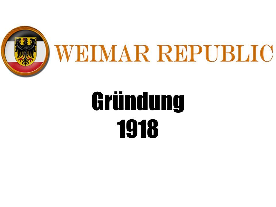 Gründung 1918