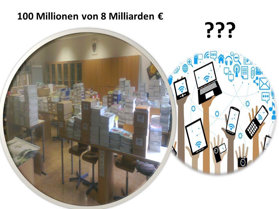 100 Millionen von 8 Milliarden € ???