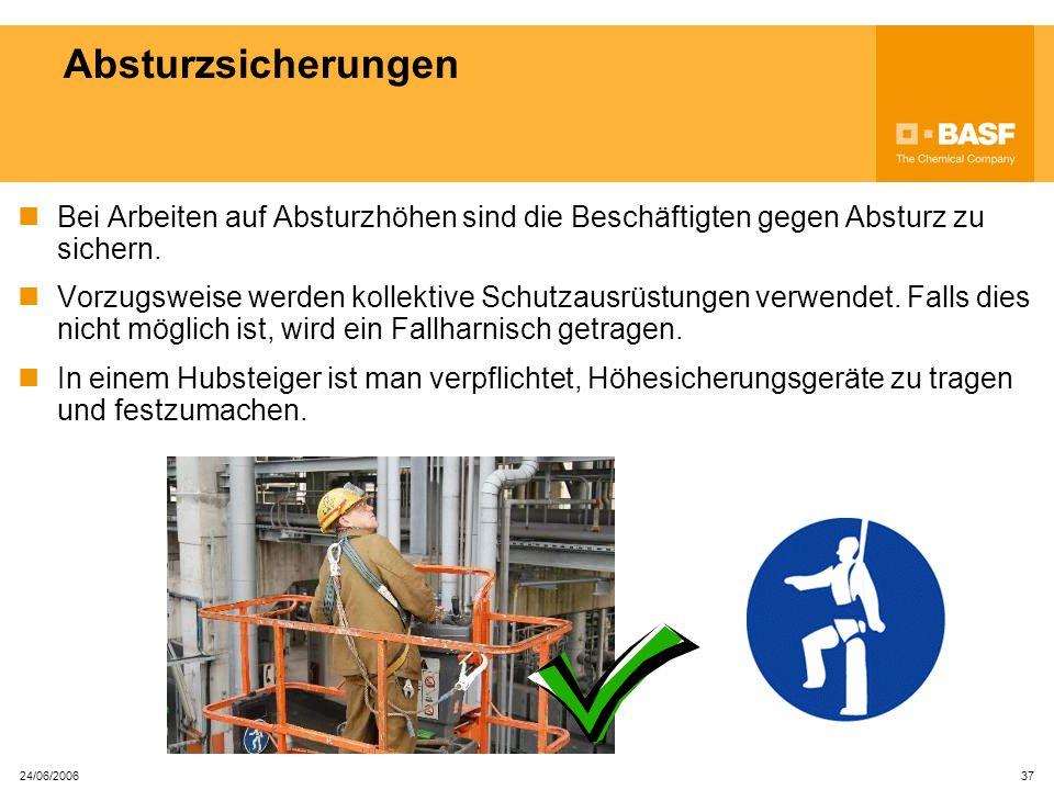 24/06/2006 36 Gerüste Gerüste dürfen nur betreten werden, wenn ein gültiges S-Elaubnis- schein vorhanden ist.