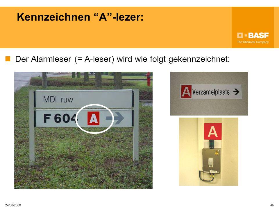24/06/2006 44 Alarmsignal: ENDE ALARM Signal: 90 ' Alle Erlaubnisscheine sind bei Ende Alarm verstrichen und müssen wiederum freigegeben werden.