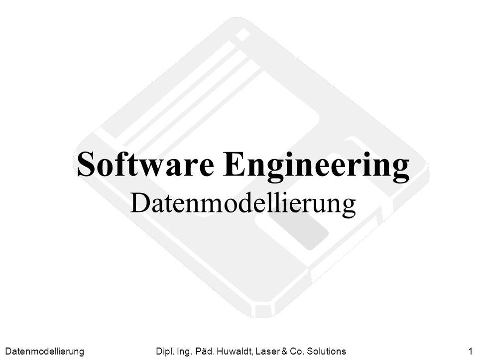 DatenmodellierungDipl. Ing. Päd. Huwaldt, Laser & Co. Solutions1 Software Engineering Datenmodellierung