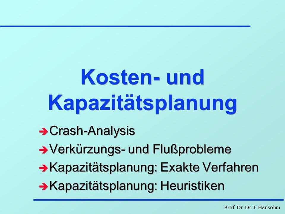 Prof. Dr. Dr. J. Hansohm Projektaufgabe - Brückenbau