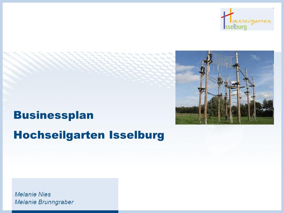 Businessplan Hochseilgarten Isselburg Melanie Nies Melanie Brunngraber