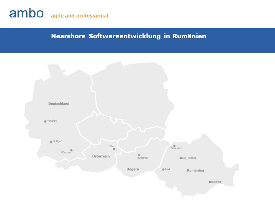 Nearshore Softwareentwicklung in Rumänien agile and professional