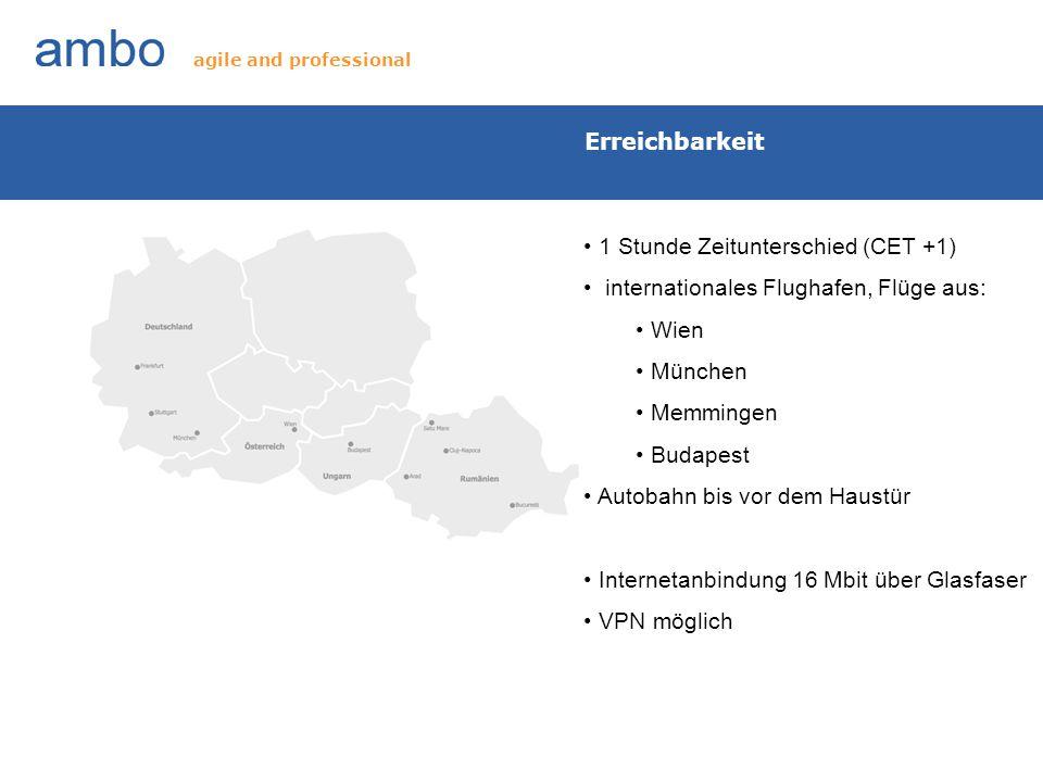 Erreichbarkeit 1 Stunde Zeitunterschied (CET +1) internationales Flughafen, Flüge aus: Wien München Memmingen Budapest Autobahn bis vor dem Haustür In
