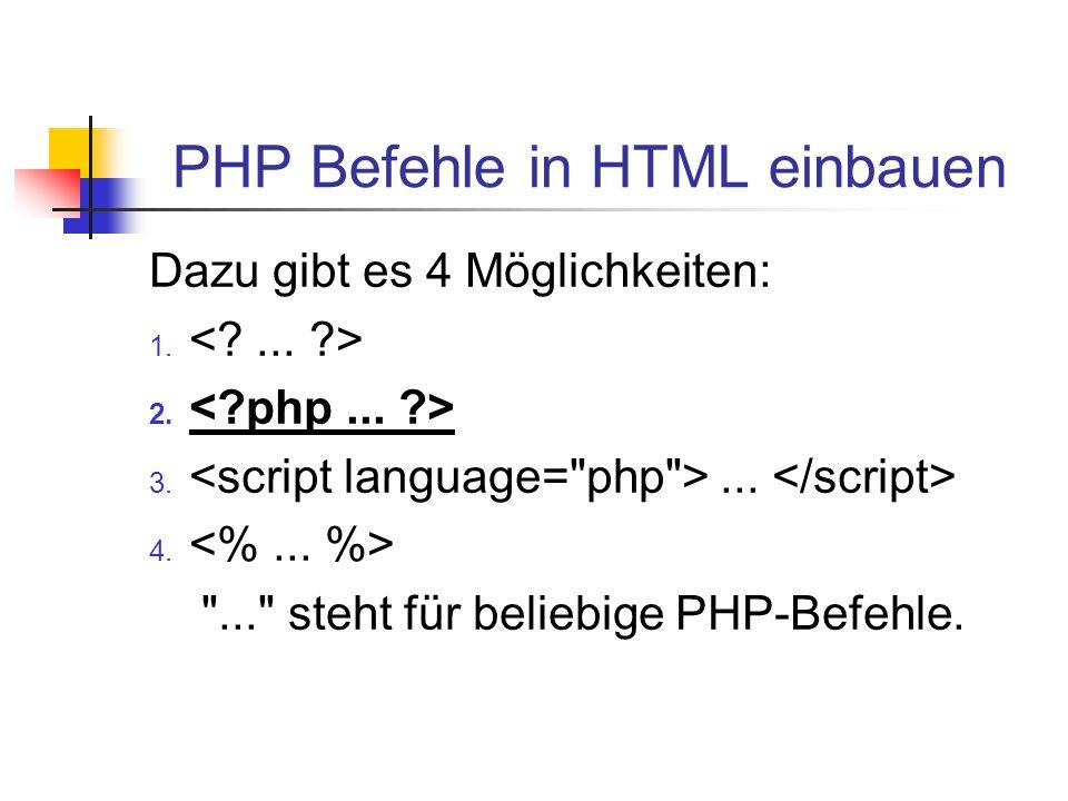 """PHP, ein einfaches Beispiel PHP-Beispiel <?php echo """"Das ist ein PHP-Skript! ; ?>"""
