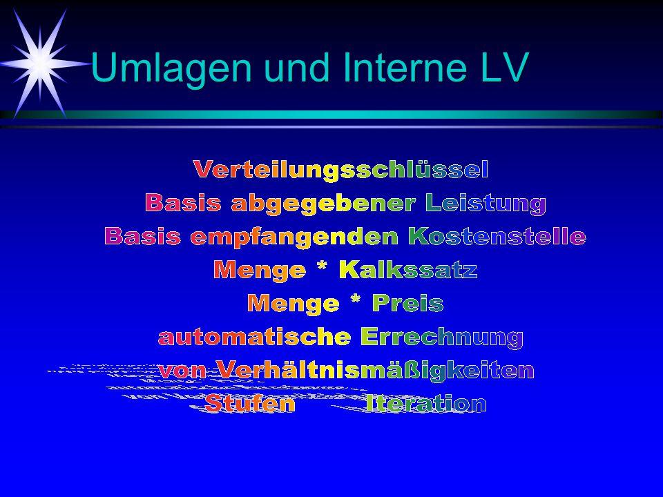 Umlagen und Interne LV