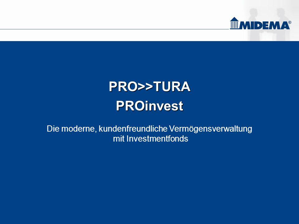 PRO>>TURAPROinvest Die moderne, kundenfreundliche Vermögensverwaltung mit Investmentfonds