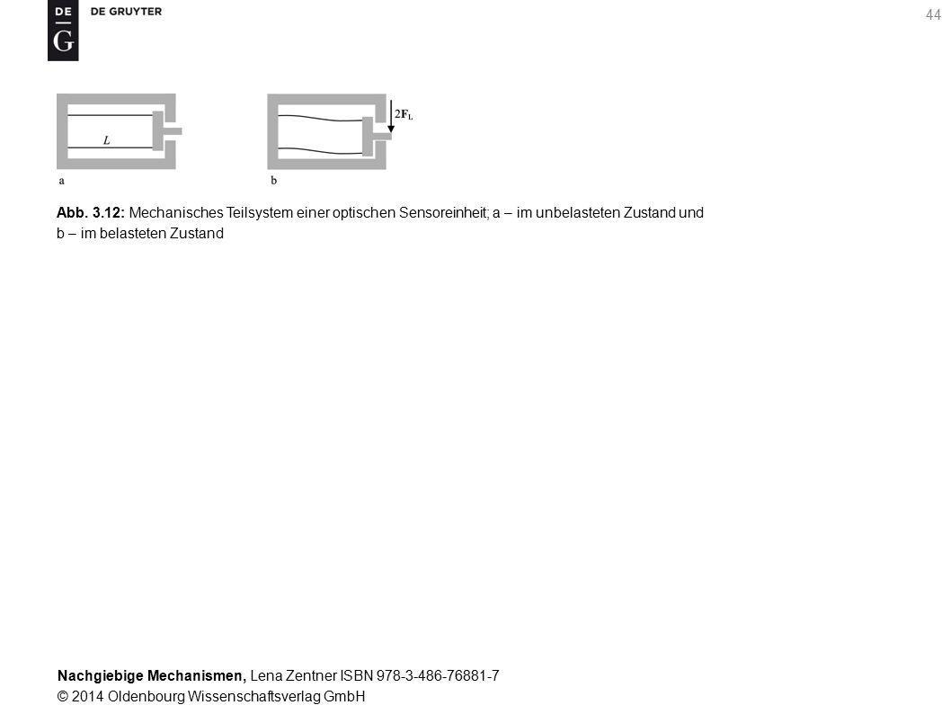 Nachgiebige Mechanismen, Lena Zentner ISBN 978-3-486-76881-7 © 2014 Oldenbourg Wissenschaftsverlag GmbH 44 Abb.