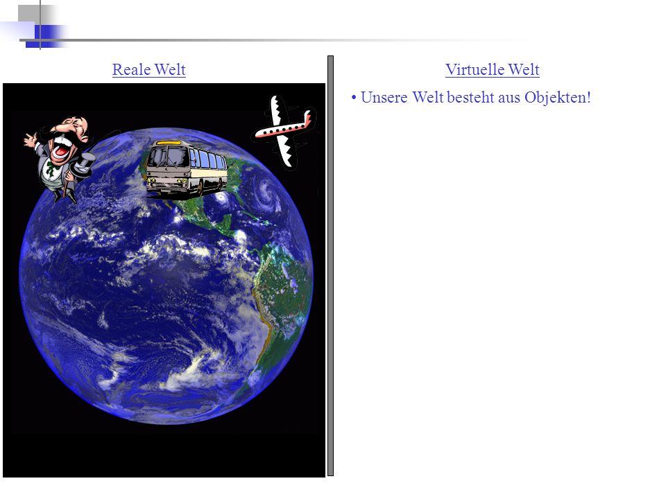 Reale WeltVirtuelle Welt Unsere Welt besteht aus Objekten!