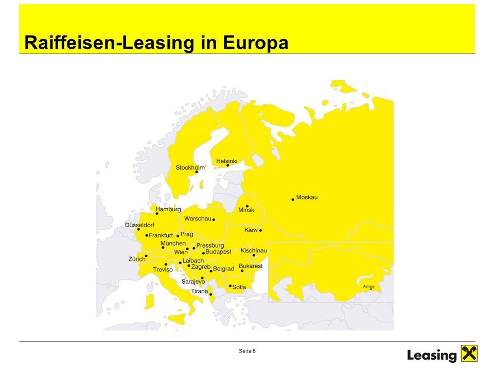 Seite 6 Gesellschafter der Raiffeisen-Leasing Zentrale: Zentrale:Raiffeisen-Leasing Gesellschaft m.b.H.