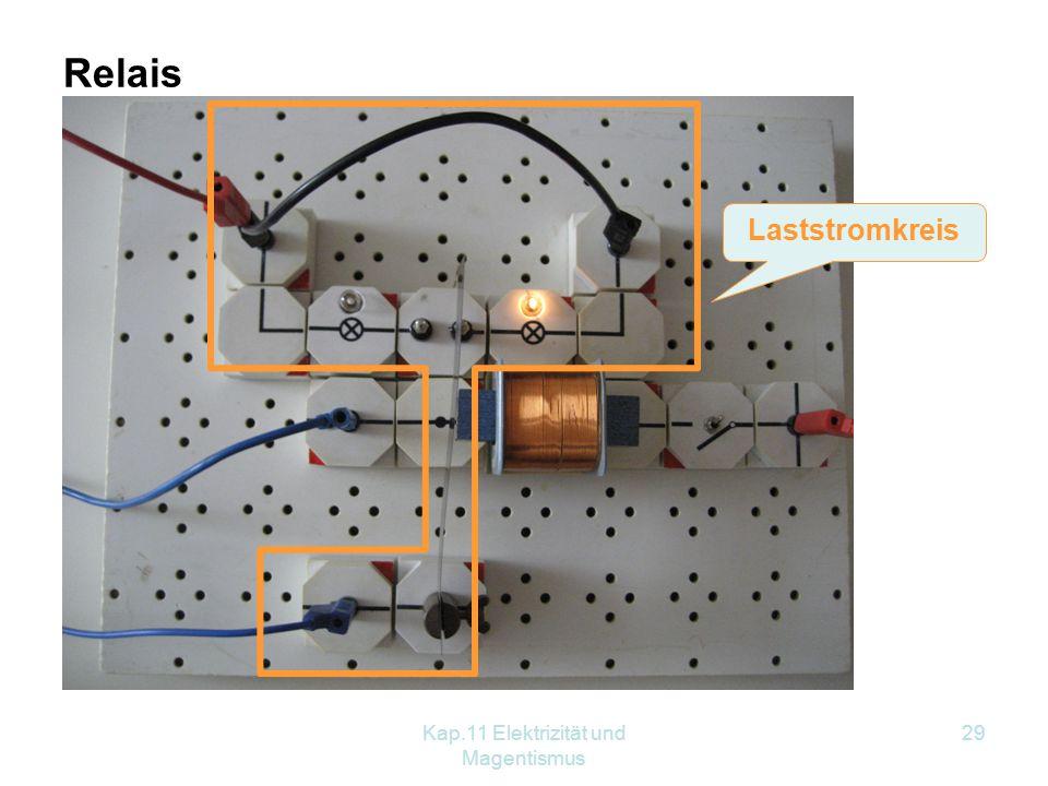 Kap.11 Elektrizität und Magentismus 29 Relais Laststromkreis