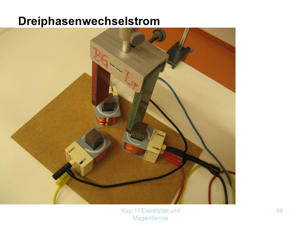 Kap.11 Elektrizität und Magentismus 56 Dreiphasenwechselstrom