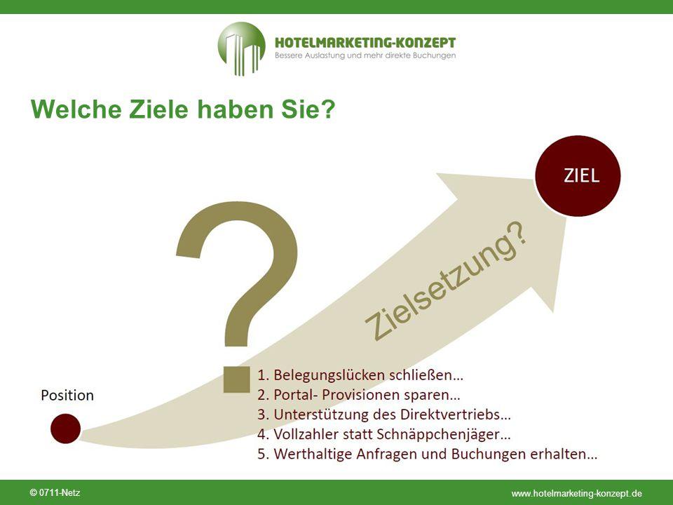 www.hotelmarketing-konzept.de © 0711-Netz Welche Ziele haben Sie?