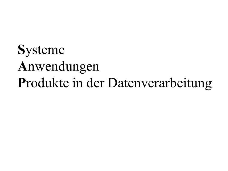 Systeme Anwendungen Produkte in der Datenverarbeitung