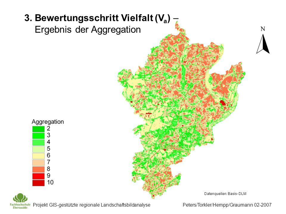 Projekt GIS-gestützte regionale Landschaftsbildanalyse Peters/Torkler/Hempp/Graumann 02-2007 Datenquellen: Basis- DLM 3.