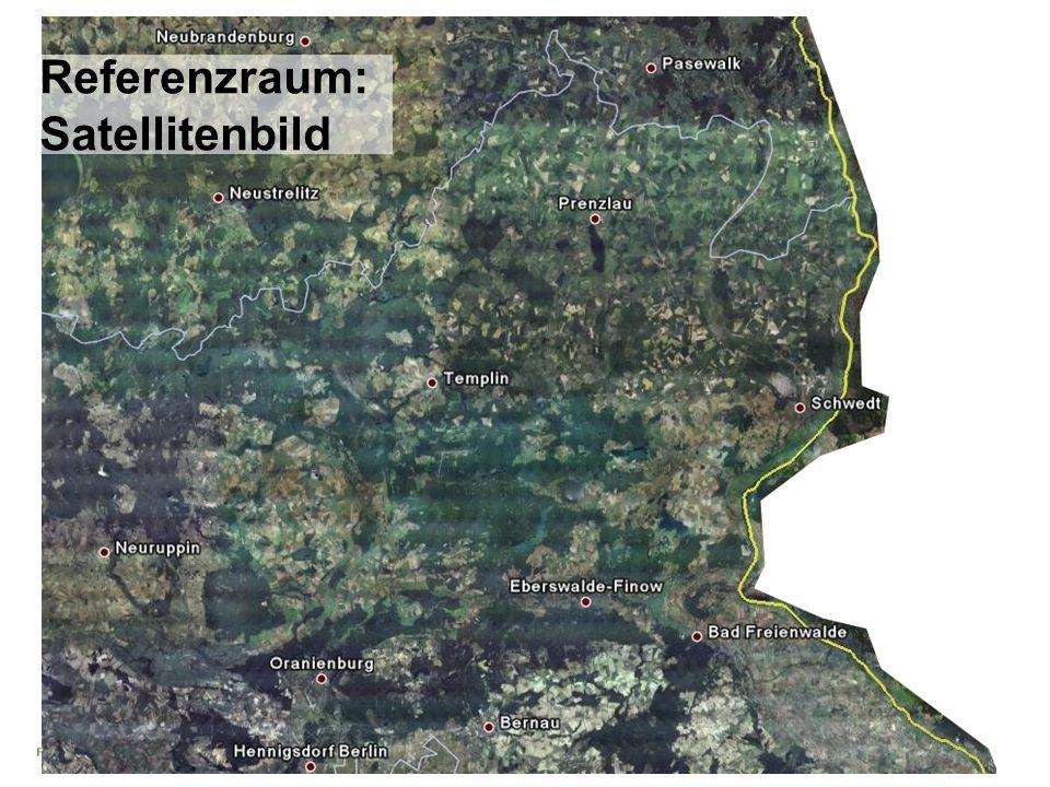 Projekt GIS-gestützte regionale Landschaftsbildanalyse Peters/Torkler/Hempp/Graumann 02-2007 Referenzraum: Satellitenbild