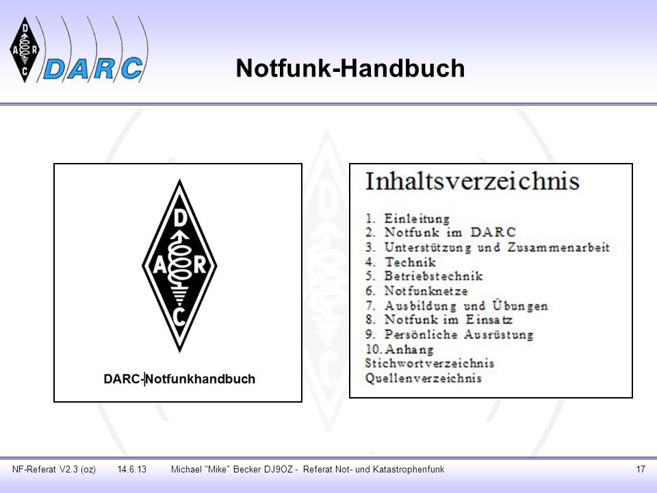 Notfunk-Handbuch NF-Referat V2.3 (oz) 14.6.13Michael