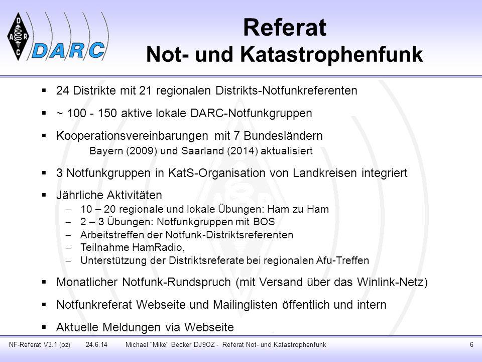Notfunk-Handbuch NF-Referat V2.3 (oz) 14.6.13Michael Mike Becker DJ9OZ - Referat Not- und Katastrophenfunk17