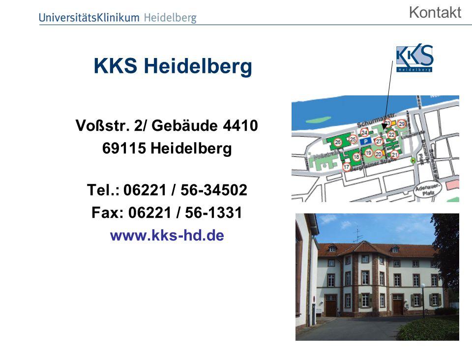 FMPR 25.09.2008 KKS Heidelberg Voßstr. 2/ Gebäude 4410 69115 Heidelberg Tel.: 06221 / 56-34502 Fax: 06221 / 56-1331 www.kks-hd.de Kontakt