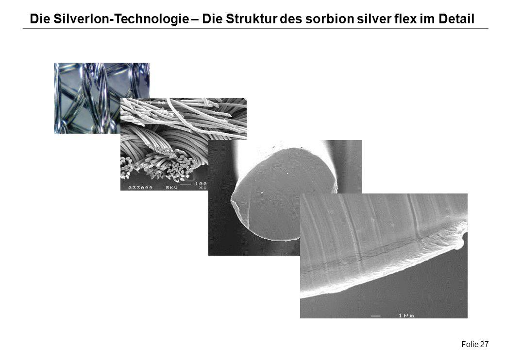 Folie 27 Die Silverlon-Technologie – Die Struktur des sorbion silver flex im Detail