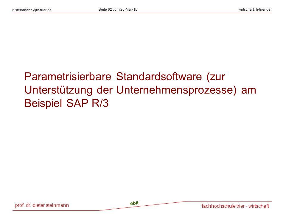 prof. dr. dieter steinmann d.steinmann@fh-trier.de Seite 62 vom 26-Mar-15wirtschaft.fh-trier.de fachhochschule trier - wirtschaft ebit Parametrisierba