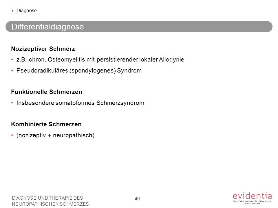 Differentialdiagnose Nozizeptiver Schmerz z.B.chron.