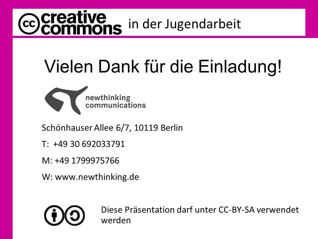 in der Jugendarbeit Vielen Dank für die Einladung! Geraldine de Bastion Schönhauser Allee 6/7, 10119 Berlin T: +49 30 692033791 M: +49 1799975766 W: w