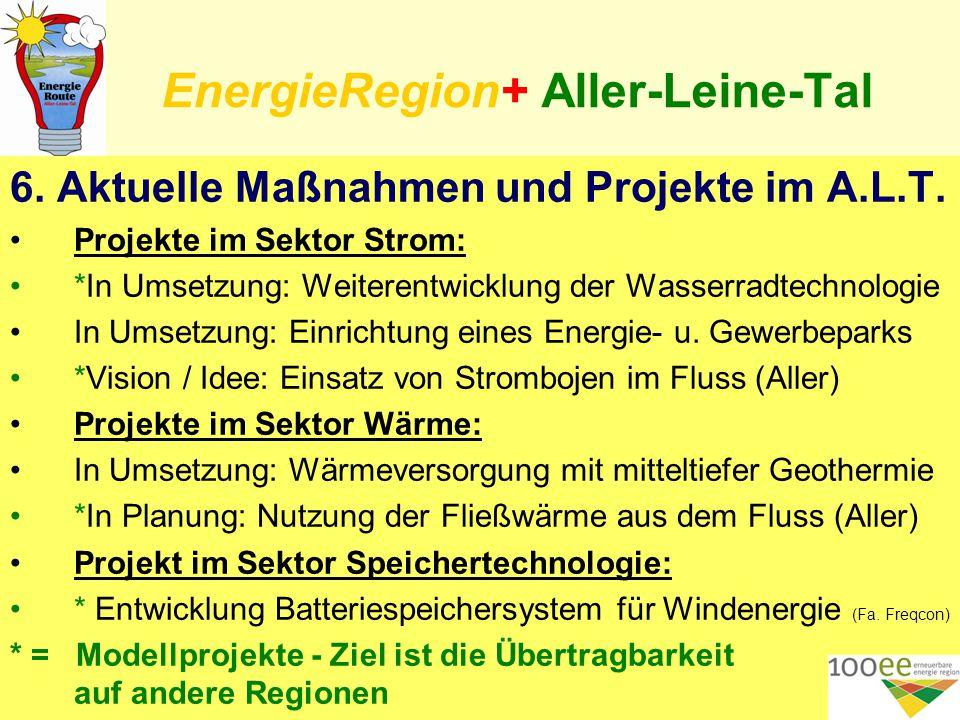 EnergieRegion+ Aller-Leine-Tal 6. Aktuelle Maßnahmen und Projekte im A.L.T.
