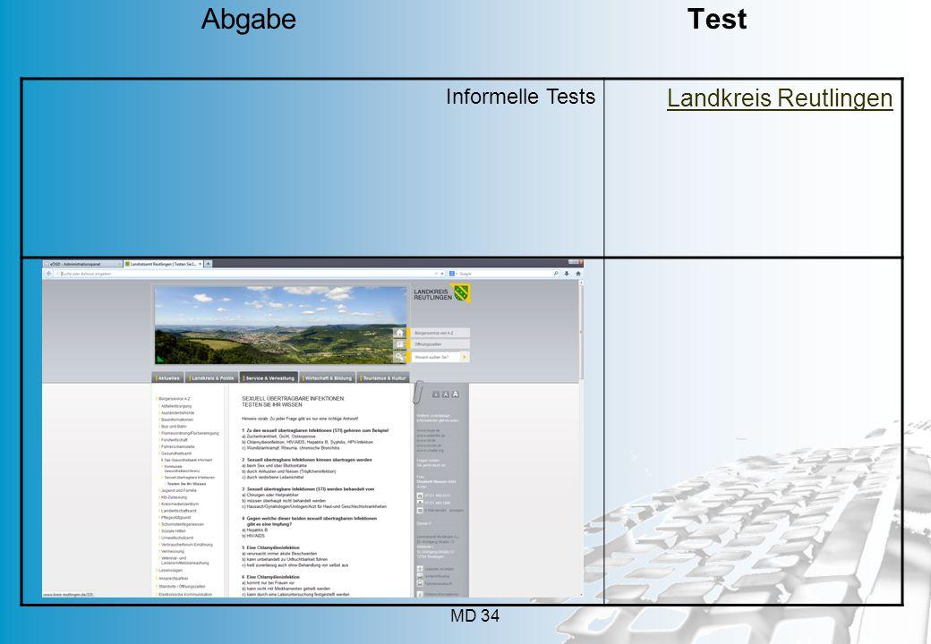 MD 34 Informelle Tests Landkreis Reutlingen Abgabe Test