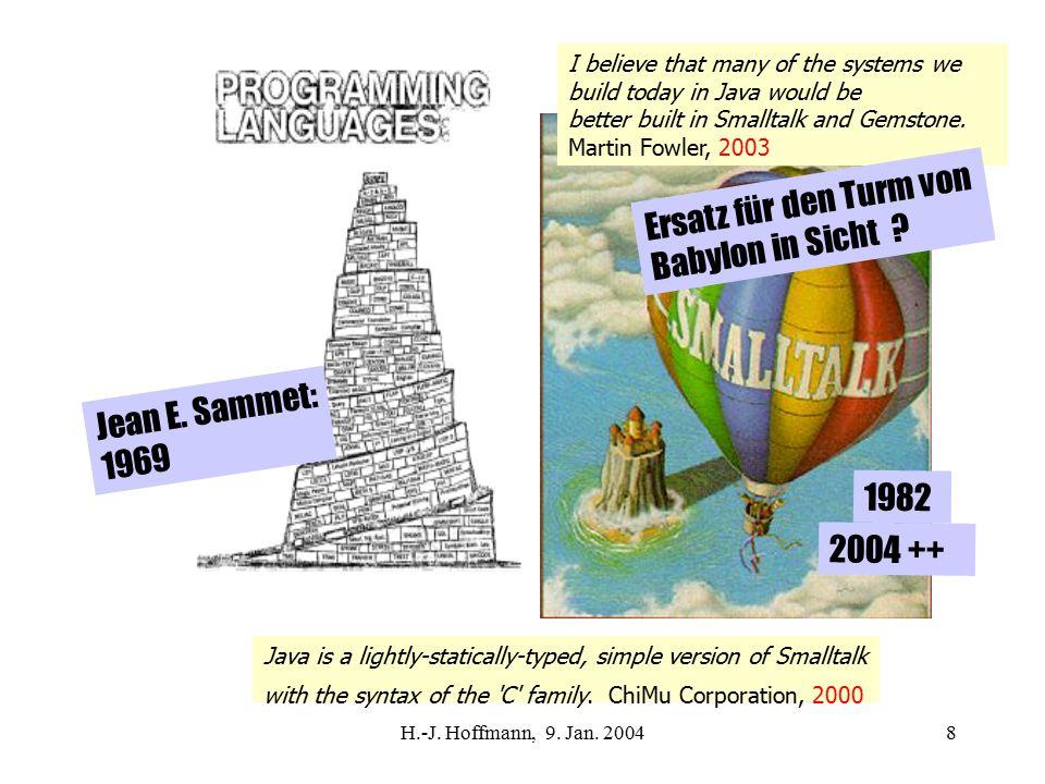 H.-J.Hoffmann, 9. Jan. 200449 Telekommunikation nicht vergessen .