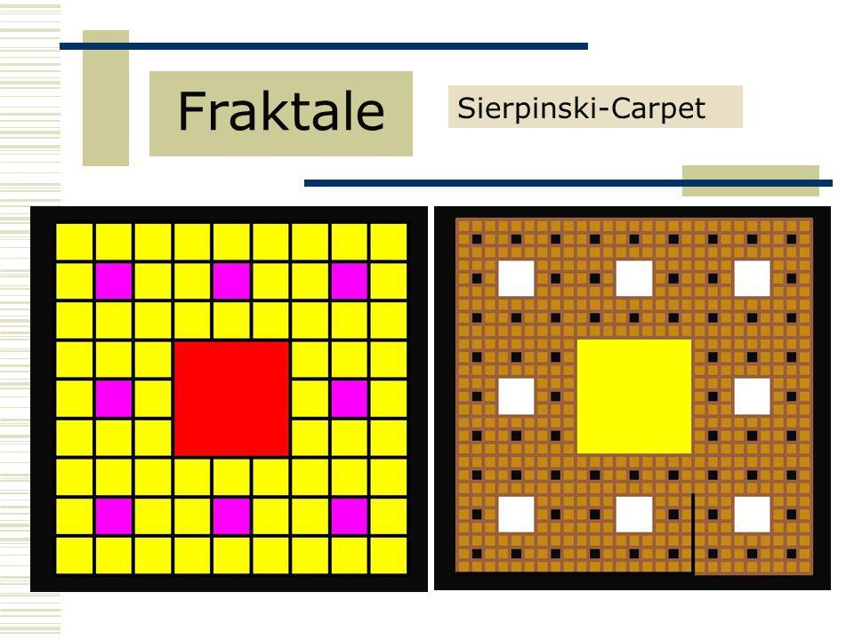 Sierpinski-Carpet Fraktale