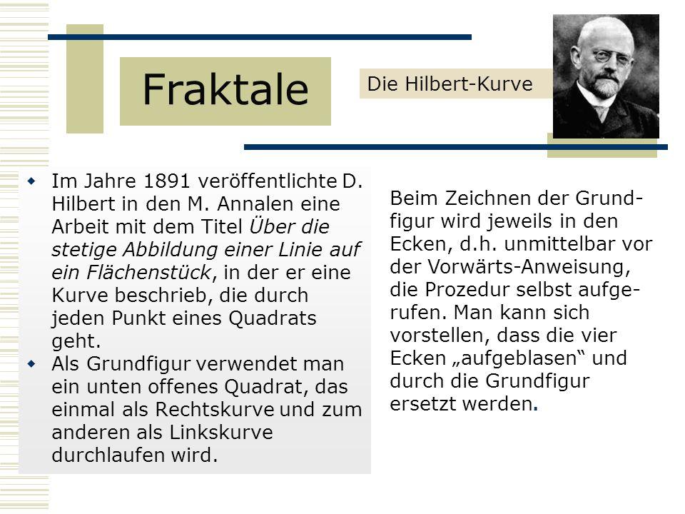  Im Jahre 1891 veröffentlichte D.Hilbert in den M.