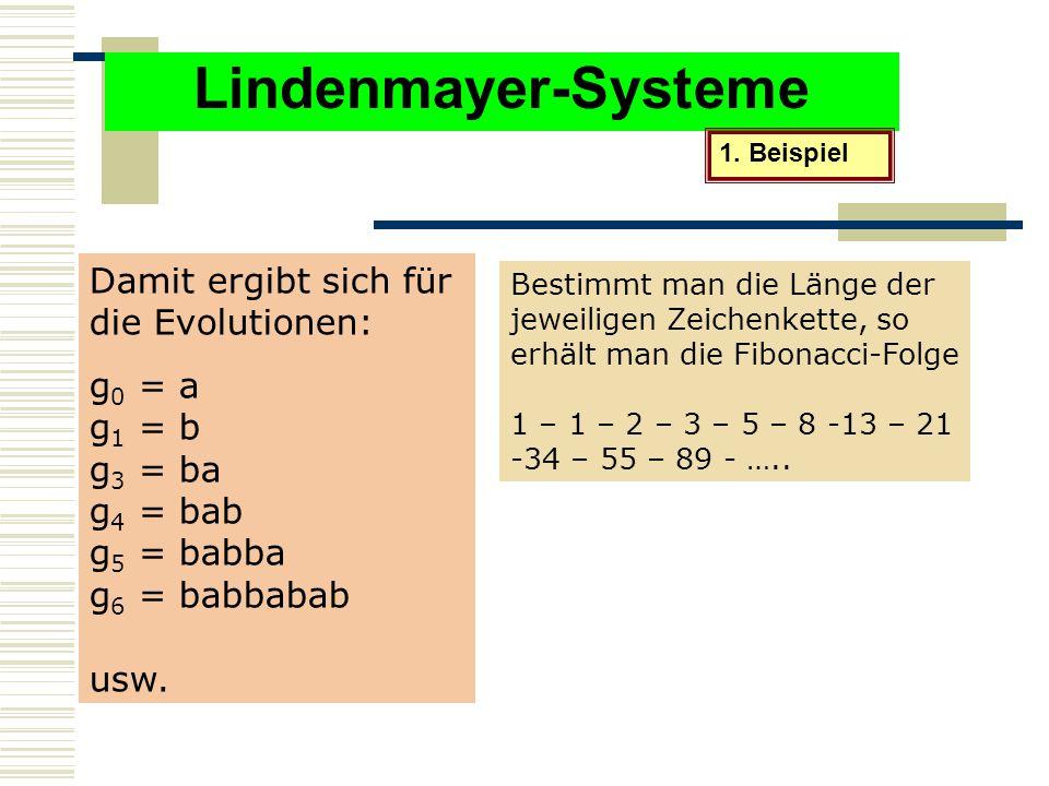 Lindenmayer-Systeme 1.