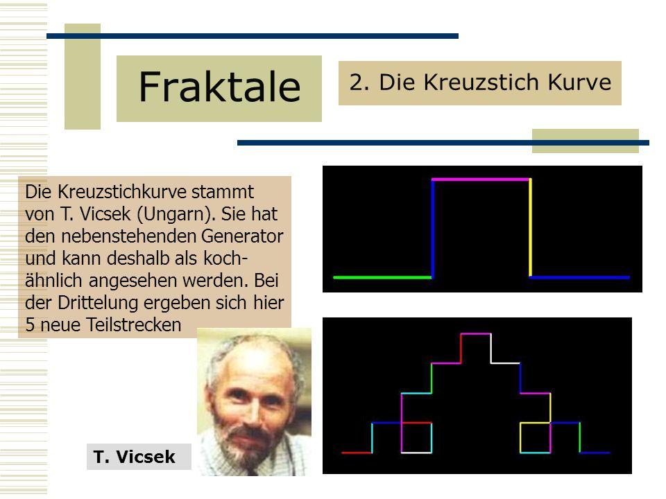 Die Kreuzstichkurve stammt von T.Vicsek (Ungarn).