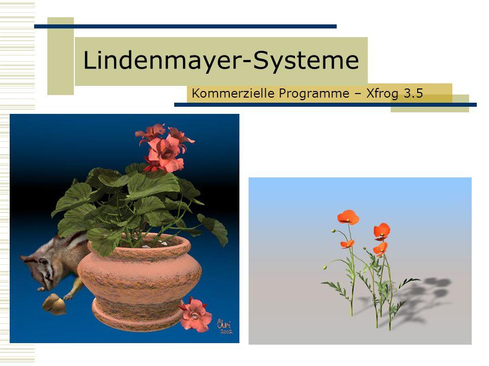 Kommerzielle Programme – Xfrog 3.5 Lindenmayer-Systeme
