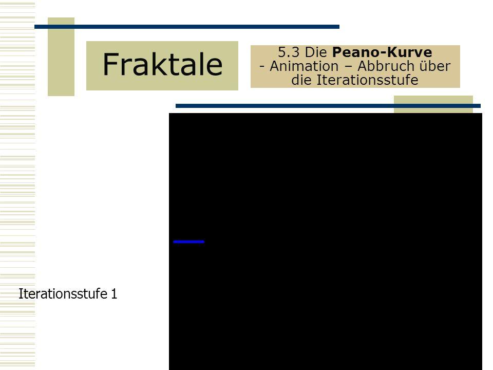 Fraktale 5.3 Die Peano-Kurve - Animation – Abbruch über die Iterationsstufe Iterationsstufe 1