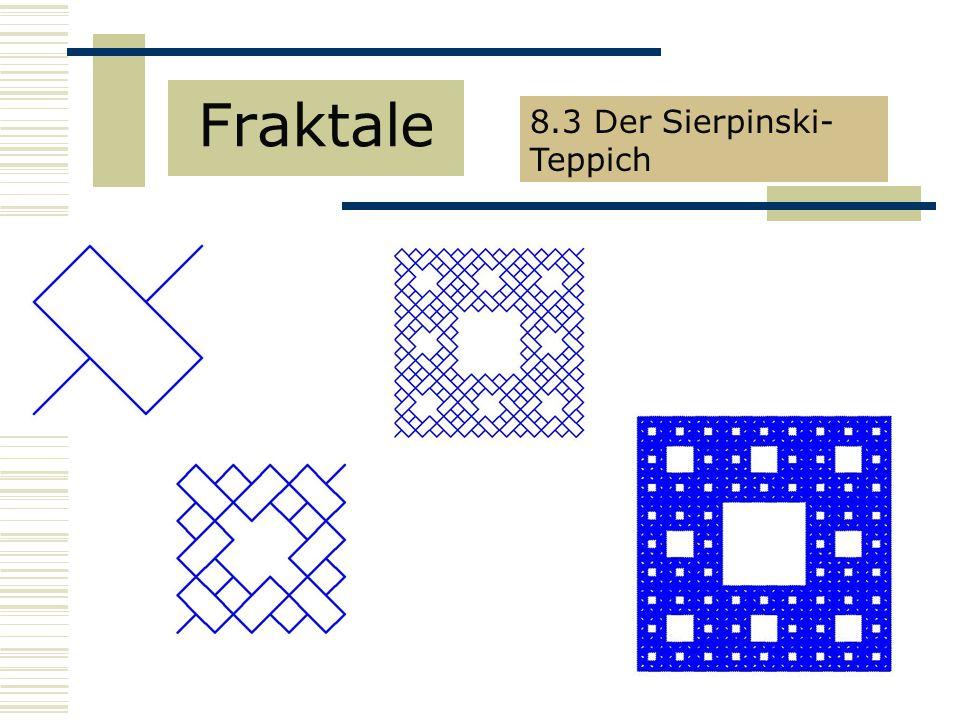 Fraktale 8.3 Der Sierpinski- Teppich