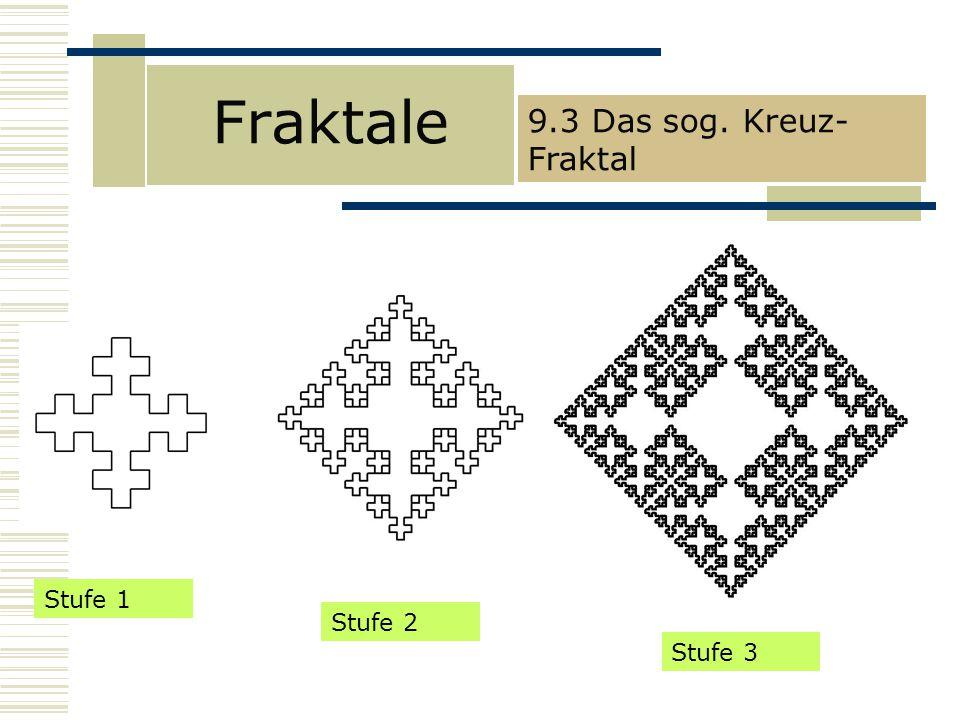 Fraktale 9.3 Das sog. Kreuz- Fraktal Stufe 1 Stufe 2 Stufe 3