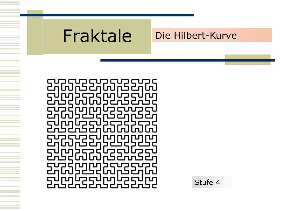 Fraktale Die Hilbert-Kurve Stufe 4