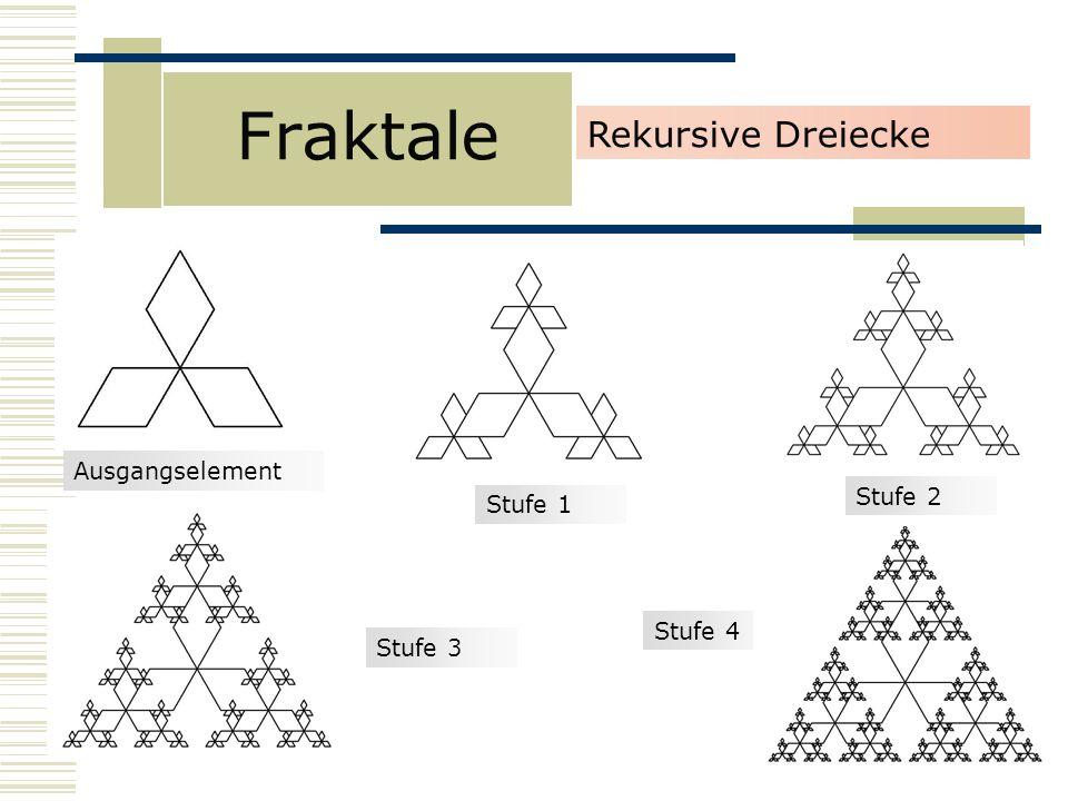 Fraktale Rekursive Dreiecke Stufe 1 Stufe 3 Stufe 2 Stufe 4 Ausgangselement