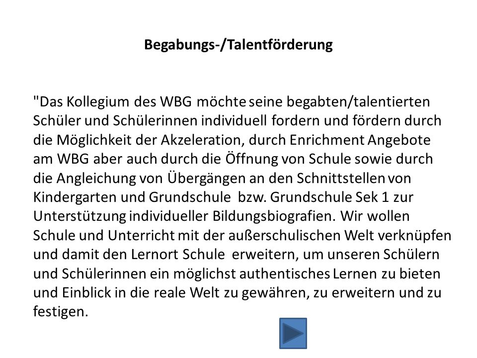 Begabungs-/Talentförderung
