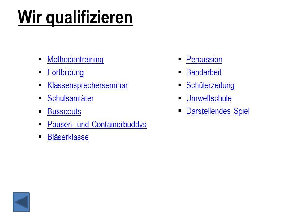 Schulsanitäter Seit dem Schuljahr 2009/2010 gibt es am Wilhelm-Busch-Gymnasium den Schülersanitäts- dienst.