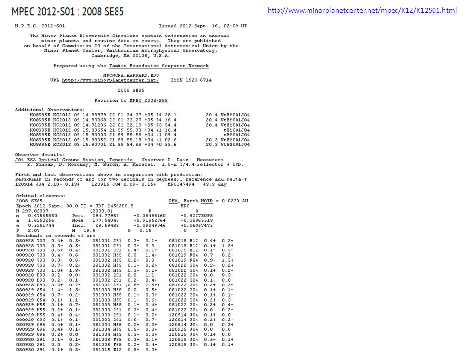 http://www.minorplanetcenter.net/mpec/K12/K12S01.html