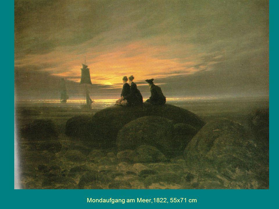 Mondaufgang am Meer,1822, 55x71 cm