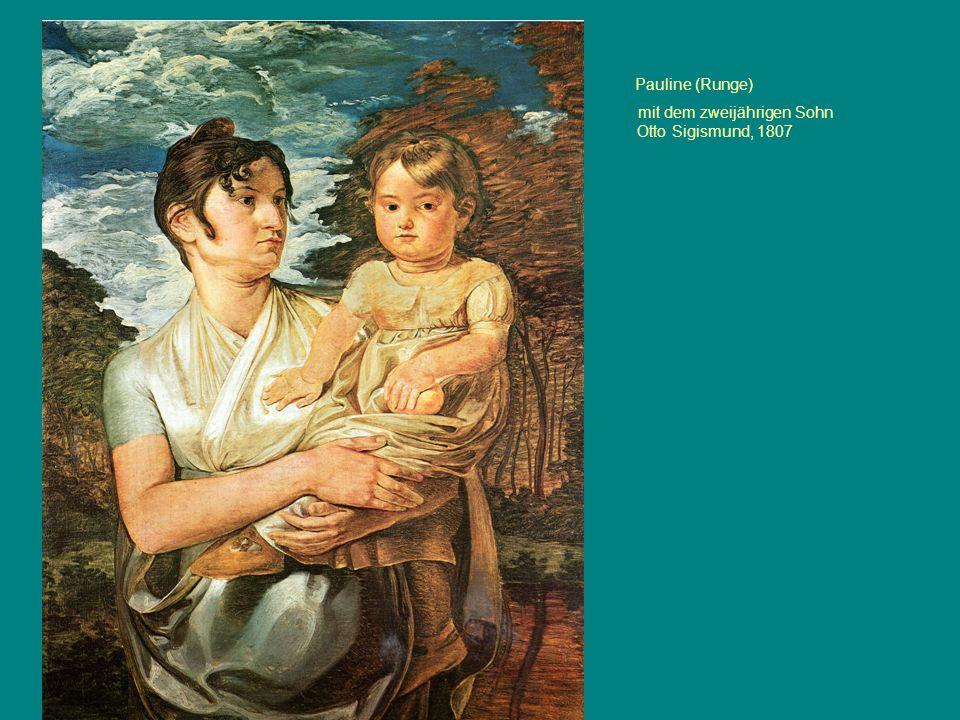 Pauline (Runge) mit dem zweijährigen Sohn Otto Sigismund, 1807